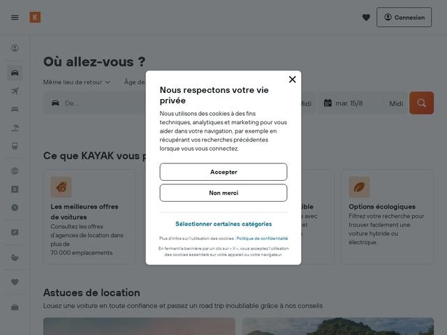 Kayak.fr - Comparez des centaines de sites de voyage