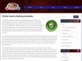 Betting Online on Sports Australia