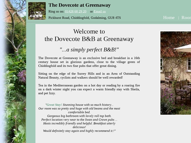 The Dovecote at Greenaway - Chiddingfold, Godalming Surrey GU84TS.