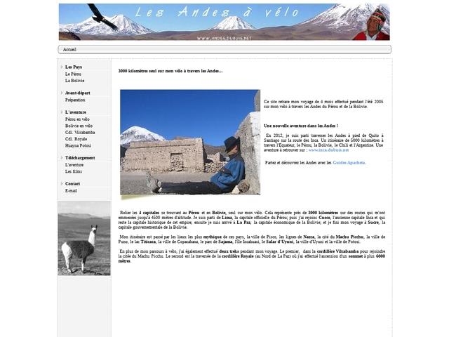 Les  Andes à vélo