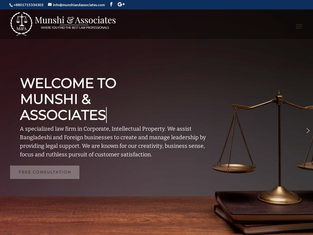 Munshi and Associates Leading IP Law Firm in Bangladesh