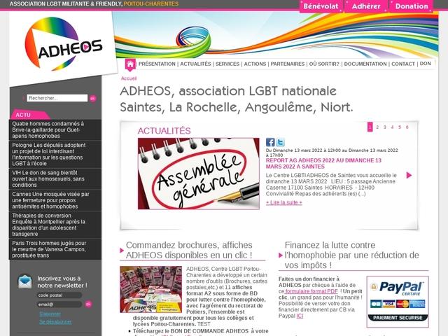 ADHEOS Aide Défense Homosexuelle Egalité des Orientations Sexuelles