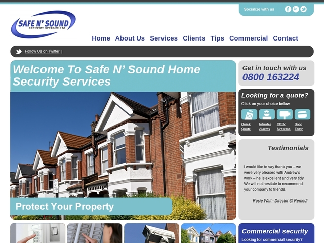 Safe N' Sound Home Security Services