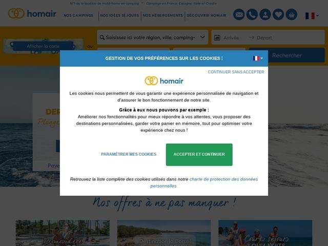Homair Vacances - Camping village et Location de mobil-homes