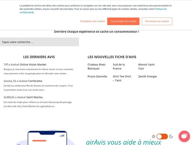 airAvis - Site d'avis et d'enquêtes consommateurs
