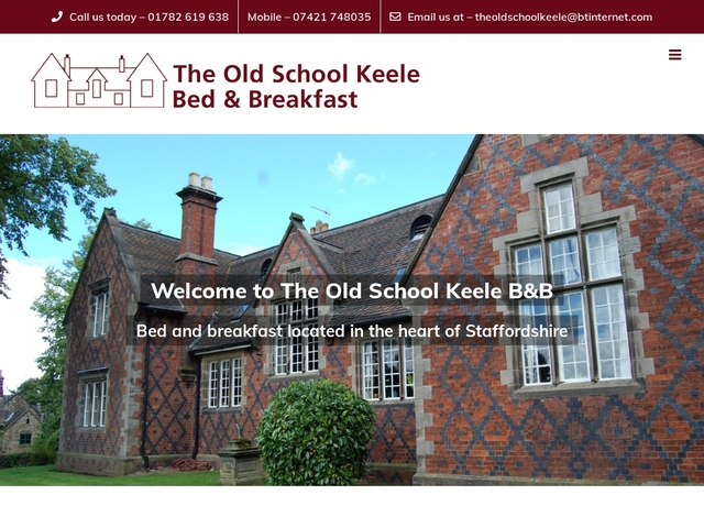 The Old School Keele B&B - Keele, Staffordshire