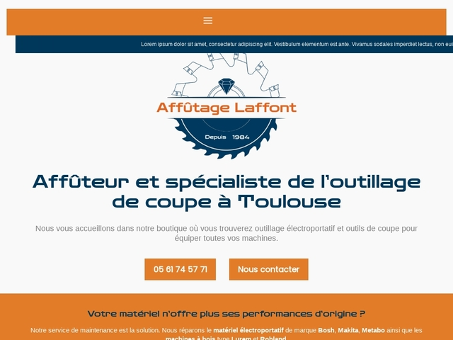 Station d'Affûtage Laffont Sarl - (31) - Affûtage - Fabrication