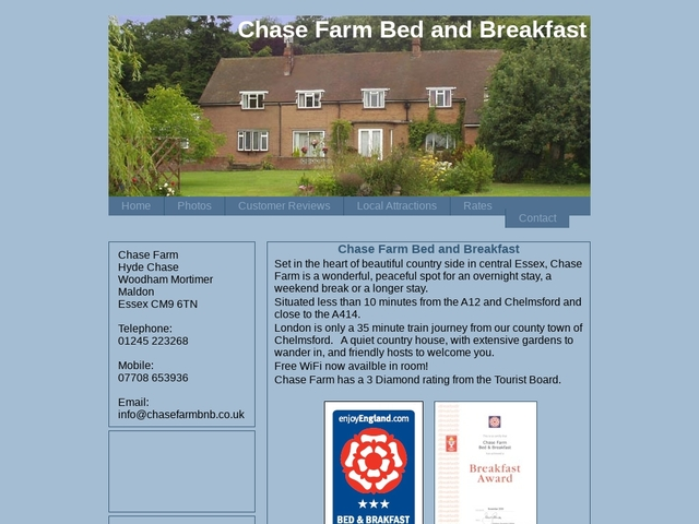 Chase Farm Bed and Breakfast - Maldon - Essex - England