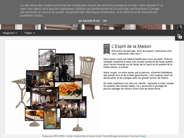 Restaurant L'EPICURIEN Colmar