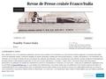 Revue de Presse croisée France/Italia