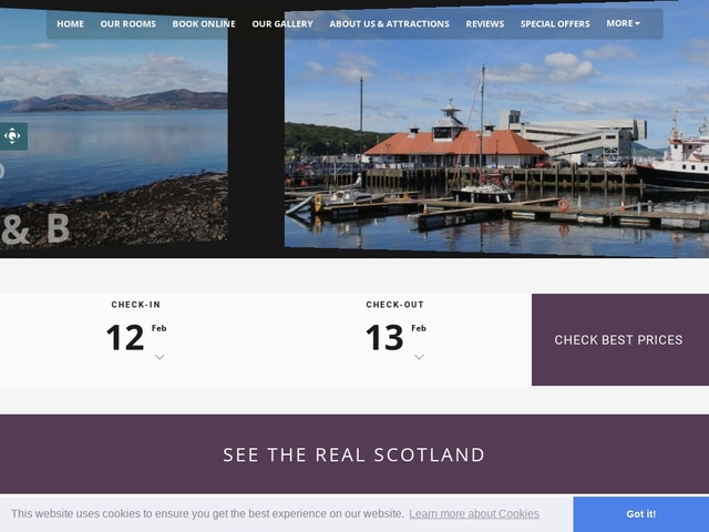 ST EBBA B&B, ROTHESBY, ISLE OF BUTE.