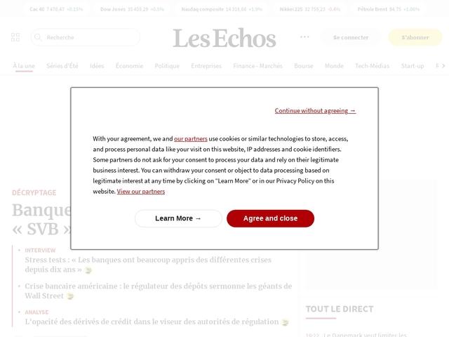 - Journal quotidien économique et financier - Les Echos.fr