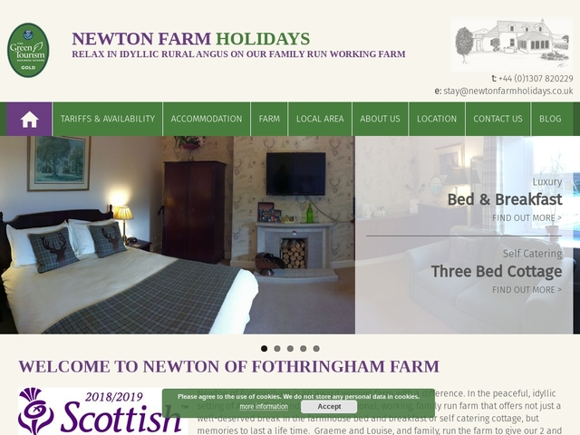 Newton Farmhouse B&B - Inverarity - Forfar - Angus - 01307 820229