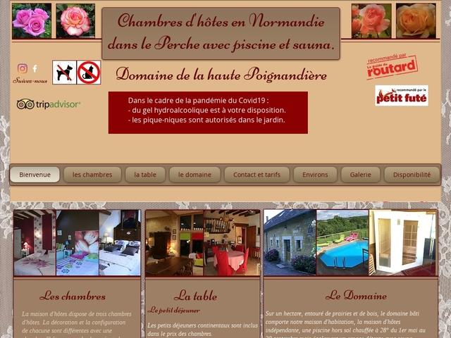 Domaine de la haute Poignandière 61130 Saint-Germain-de-la-Coudre Orne