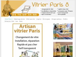Remplacement de vitre cassée Paris 8