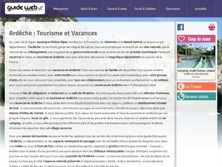 Ardèche GuideWeb