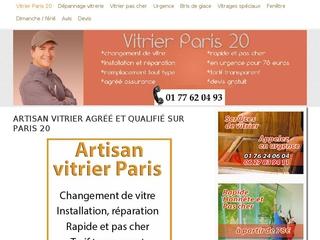 Dépannage vitrier Paris 20 - travail de qualité