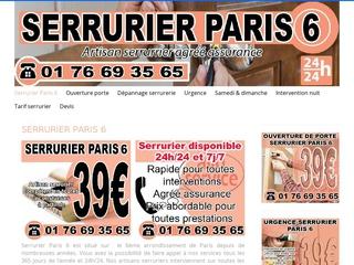 Dépannage serrurerie Paris 6