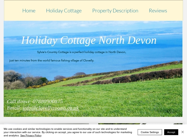 Clovelly Rooms - Pillowery Park - Burscott - Devon - England.