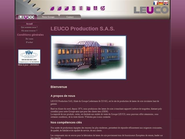 Leuco Production sas (67) - Fabricant Outils-Lames de Scies.