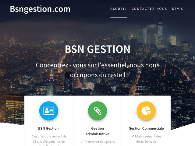 MARSEILLE - BSN GESTION administrative et commerciale
