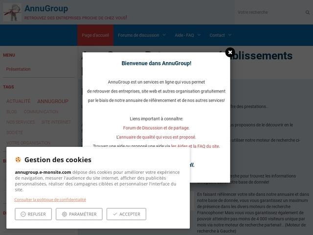AnnuGroup | Trouvez toute les entreprises..