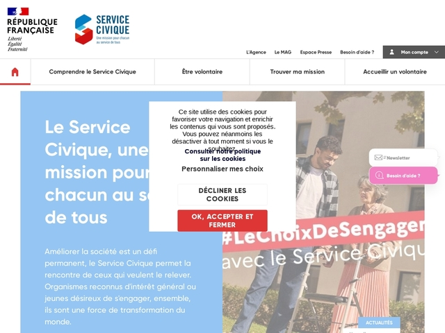 Site du Service Civique