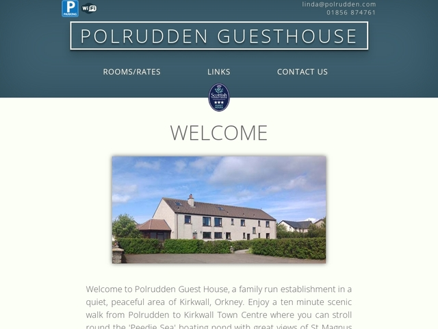 POLRUDDEN GUEST HOUSE, KIRKWALL, ORKNEY.