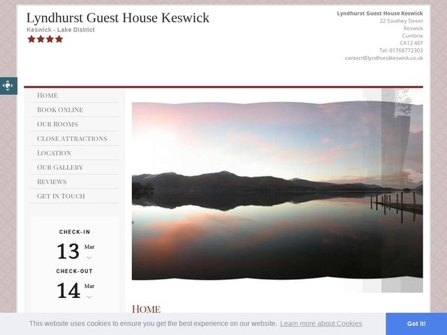 LYNDHURST GUEST HOUSE, KESWICK, CUMBRIA.