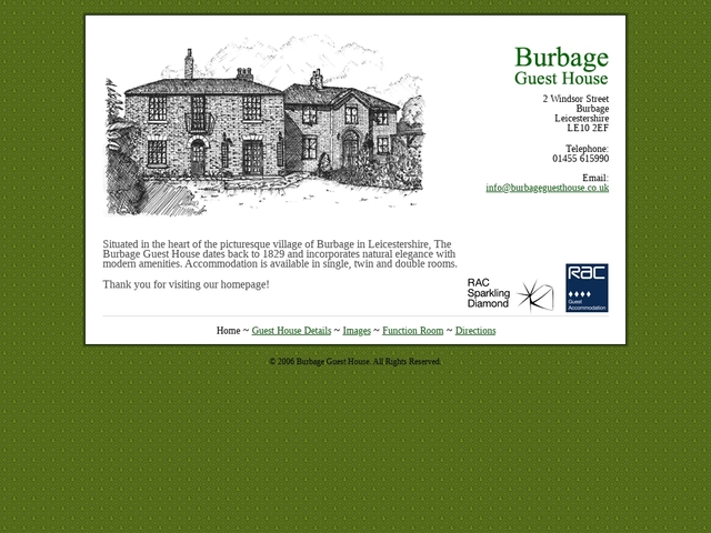Burbage Guest House - Leicestershire - Windsor St - England.