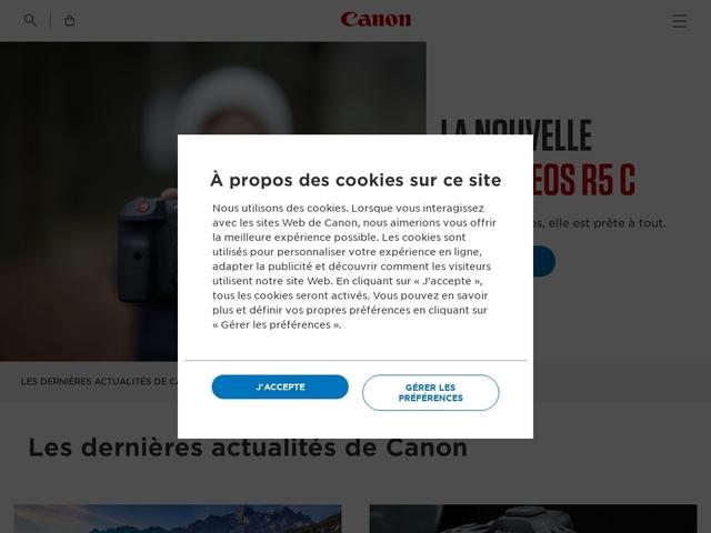 Canon France - Accueil