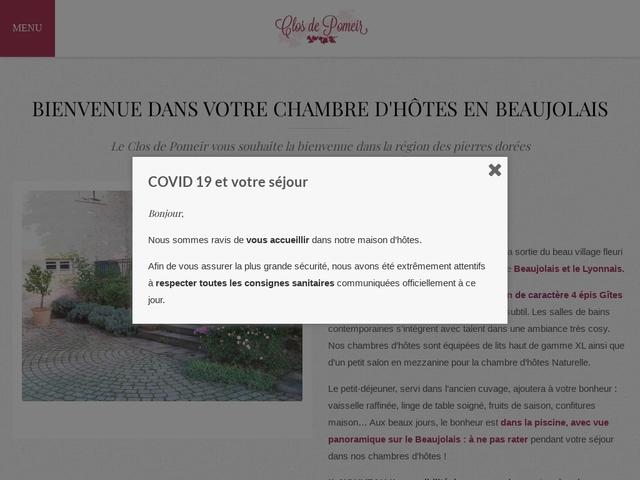 Chambres d'hôtes en Beaujolais - Le Clos de Pomeir