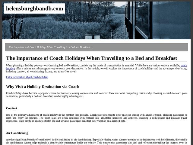 Whistlers Dell B&B - Helensburgh - Argyll & Bute - Scotland