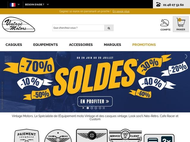Equipements et casques moto vintage - Vintage Motors