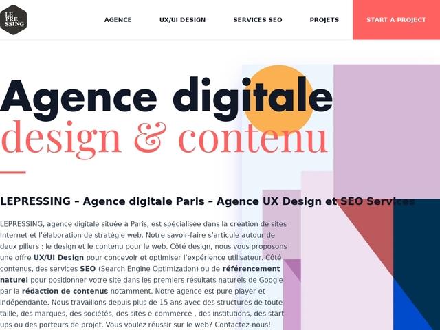 Conseil, stratégie & contenue digital - LePressing..