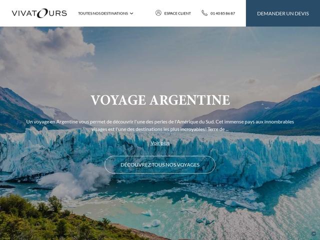 Agence de voyage argentine : Vivatours