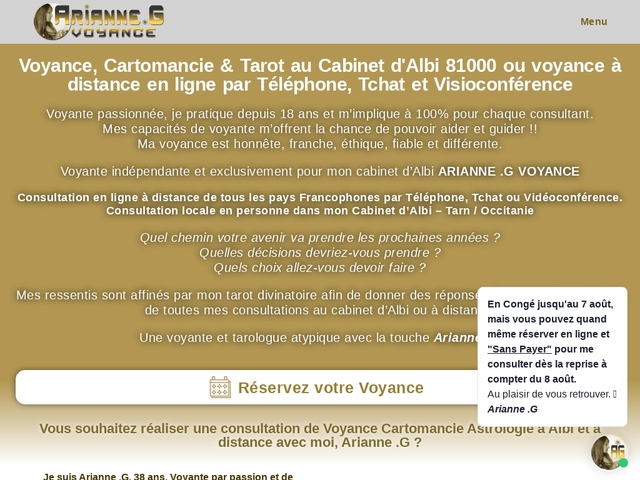 Le cabinet : Arianne .G Voyance