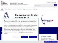 Gendarmerie nationale - Accueil