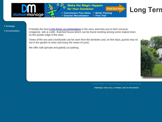 The Thatch B&B - Lyme Regis - Dorset - England.