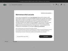 LACOSTE – Nouvelle boutique en ligne