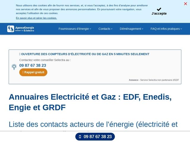 Accueil EDF Bendejun : coordonnées raccordement et souscription