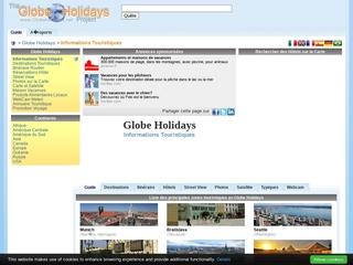 Voyage et Vacances sur Globe Holidays
