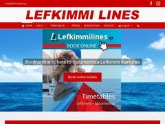 LEFKIMI FERRY - regular lines CORFU - IGOUMENITSA