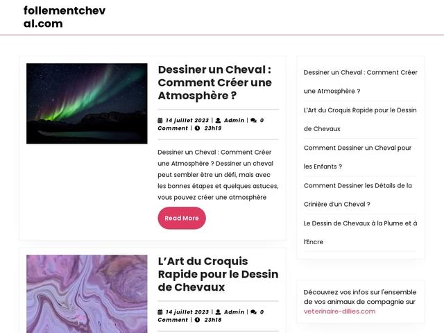 Site de la manifestation « Follement Cheval »