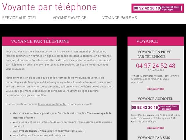 Voyante par telephone