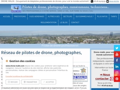 Télépilote sur Nantes, vue aérienne par drone