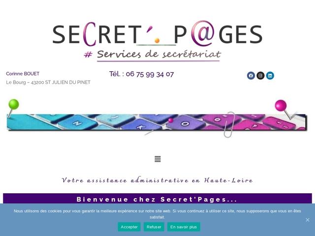 St JULIEN du PINET - SECRET'PAGES secrétariat administrative