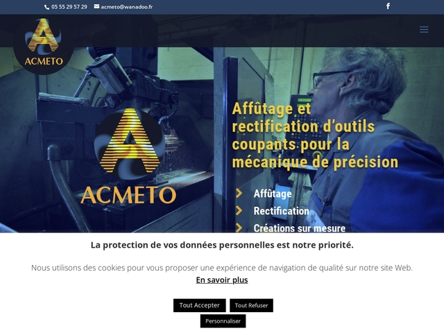Acmeto sas - (19) - Affûtage-Rectification outils coupants.