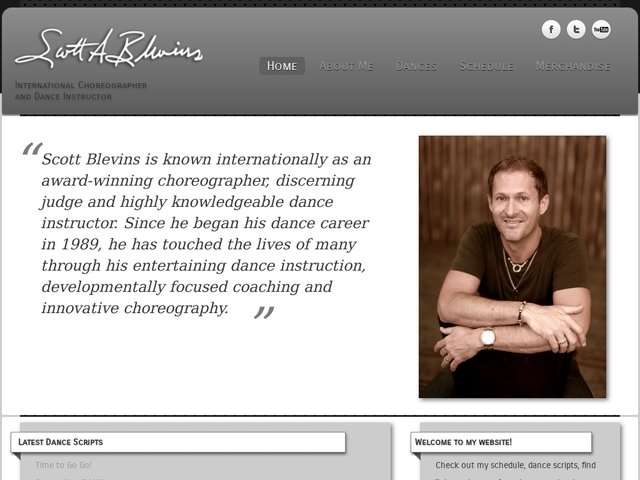Scott Blevins - International Choreographer & Dance Instructor