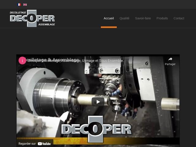 Decoper sas - (74) - Décolletage-Usinage-Assemblages